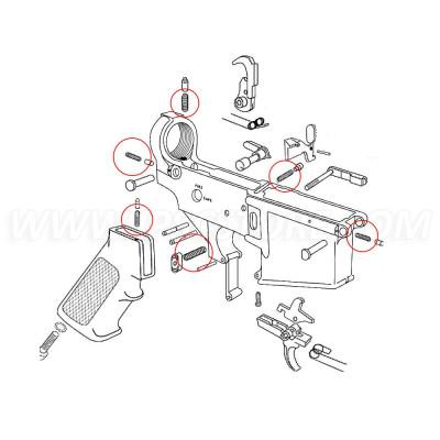 Комплект Пружин Eemann Tech для AR-15