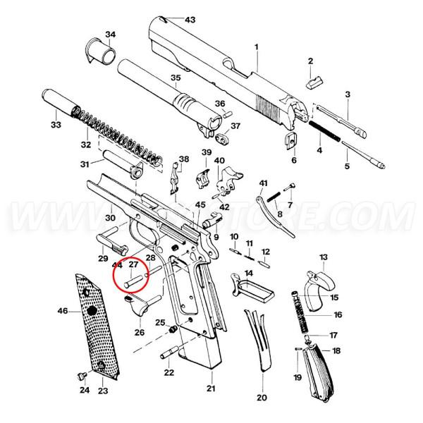 Eemann Tech Hammer Pin for 1911/2011, Silver