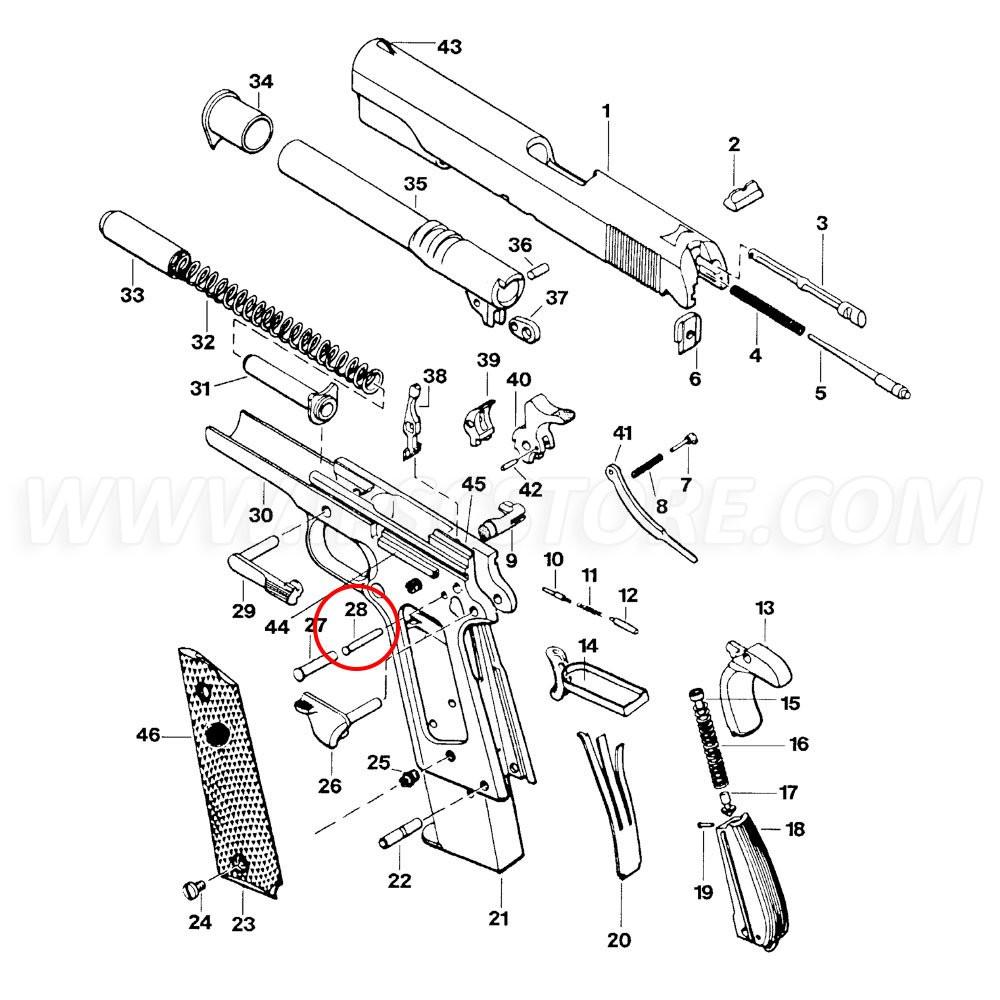 Eemann Tech Sear Pin for 1911/2011, Silver