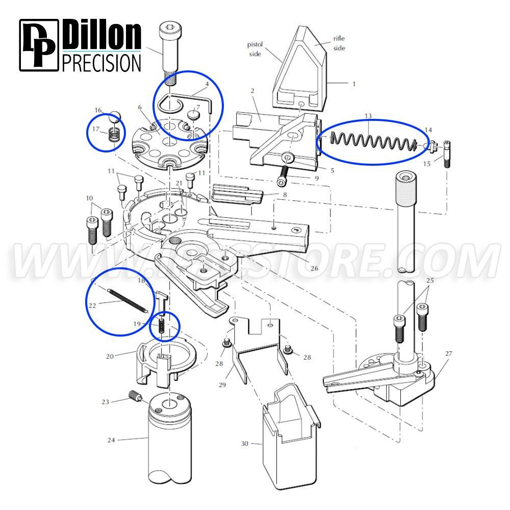 Комплект Пружин Eemann Tech для Dillon XL650/XL750