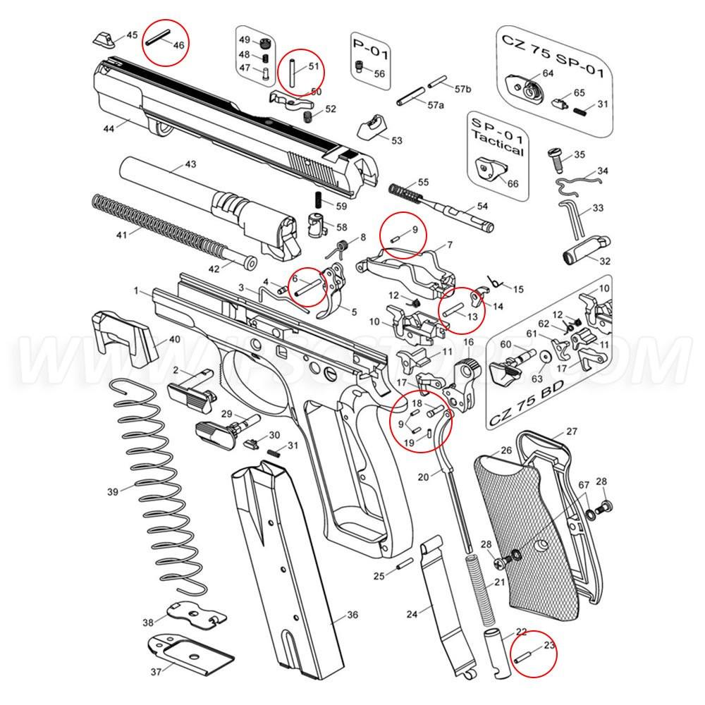 Eemann Tech Pins Set for CZ