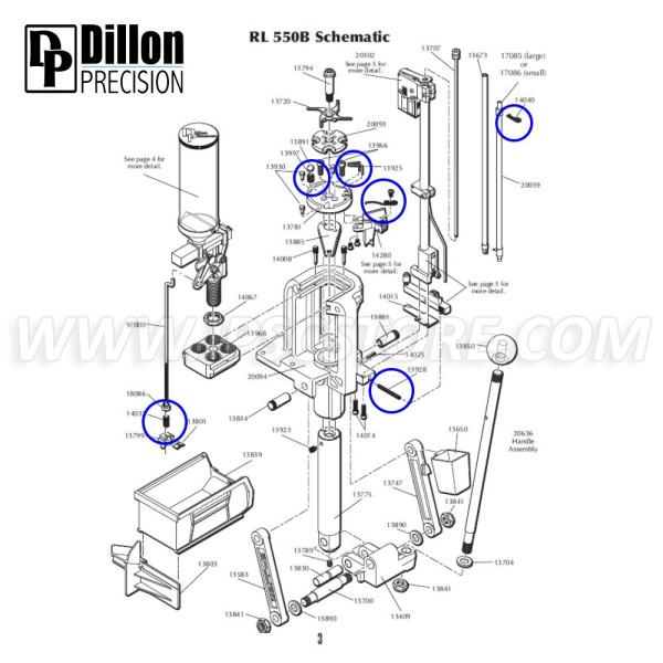 Eemann Tech Springs Kit for Dillon RL550