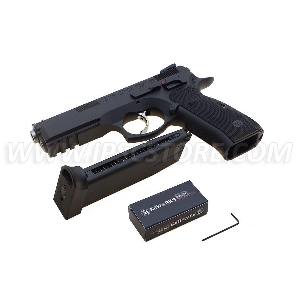 Пистолет айрсофт CZ 75 SP-01 Shadow KJ WORKS - GREEN GAS