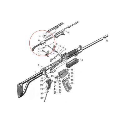 Molot Vepr 12ga VPO-205 Recoil Spring Guide Rod Assembly 4