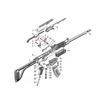 Molot Vepr 12ga VPO-205 Trigger Kit Pin 0-25