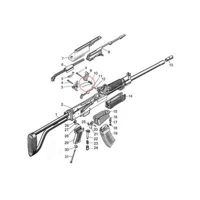 Molot Vepr 12ga VPO-205 Hammer Spring 0-9
