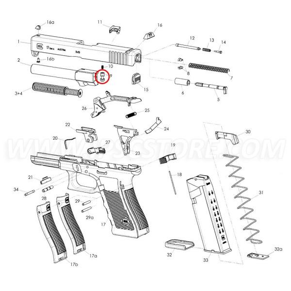 Pasador de Seguridad de 9 mm y .40S&W para GLOCK