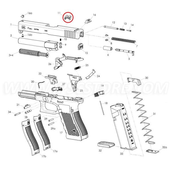 GLOCK Extracteur