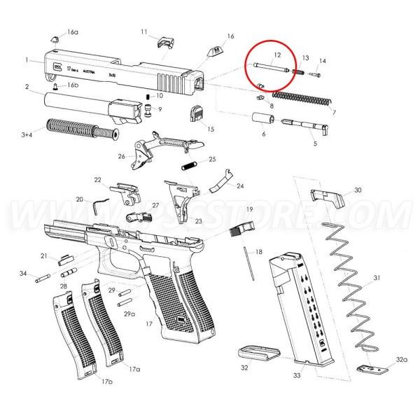 GLOCK Extractor Depressor Plunger Assembly