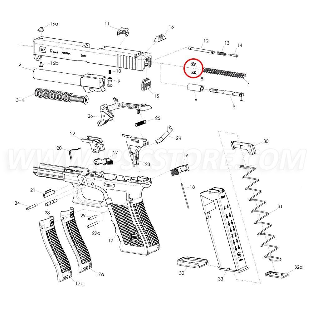 GLOCK Firing Pin Spring Cups Standard