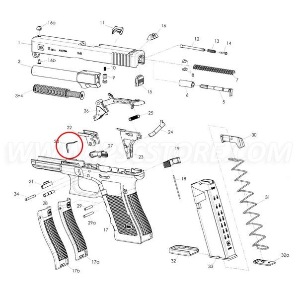 Glock Gen3/Gen4 Slide Lock Spring