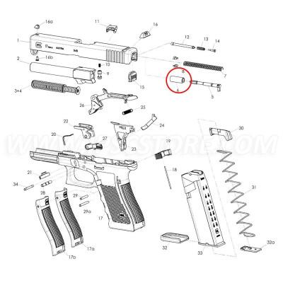 GLOCK Firing Pin Spacer Sleeve 9mm