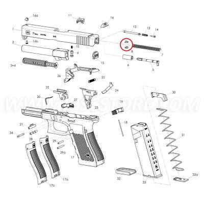 Retenida Muelle Recuperador Glock