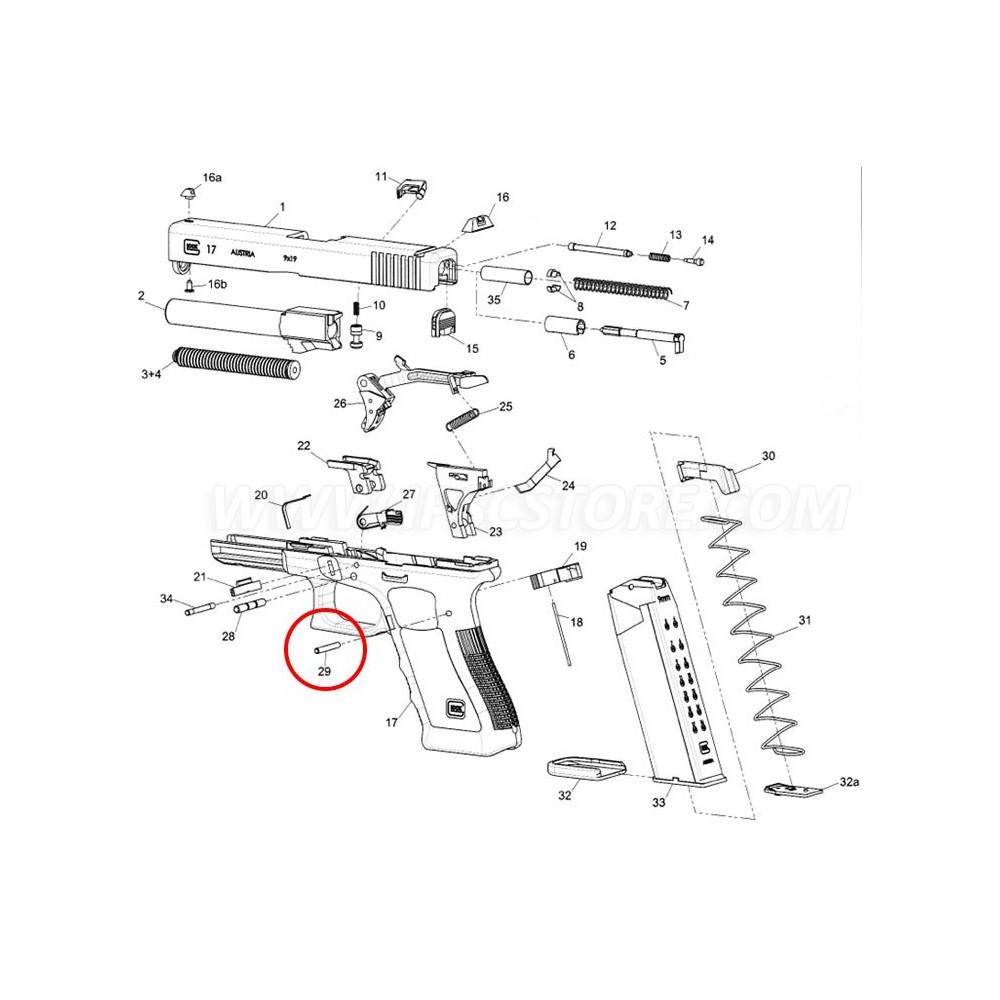 GLOCK Trigger Housing Pin MBS