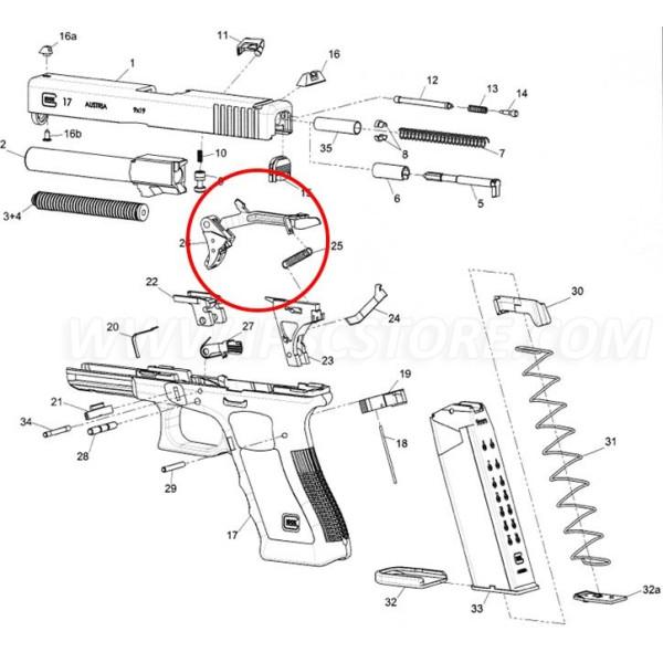 GLOCK GEN4 Trigger with trigger bar