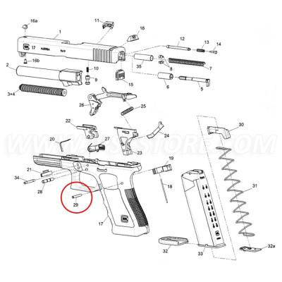 GLOCK 42 / 43 Trigger Housing Pin