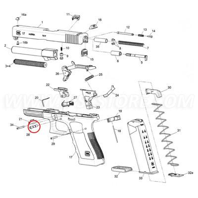 GLOCK 43 Trigger Pin
