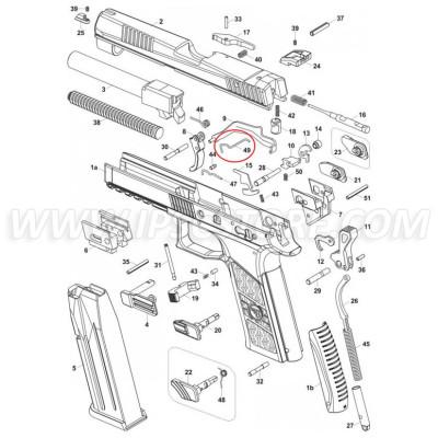 CZ P-07/P-09 Trigger Bar Spring