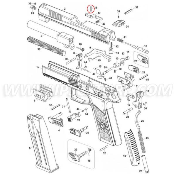 CZ P-07/P-09 Extractor Pin