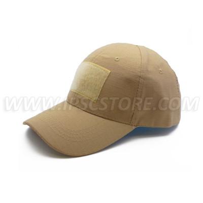 Tactical Cap with 3 Velcros, Desert Camel Khaki