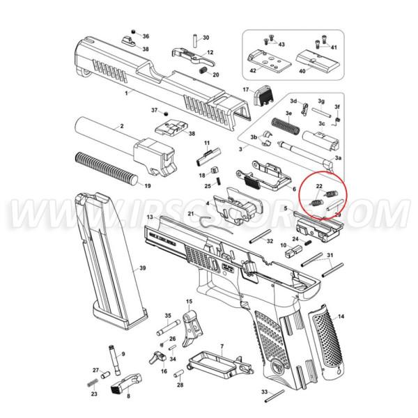 Eemann Tech Trigger bar Spring for CZ P-10 - 2 pcs.