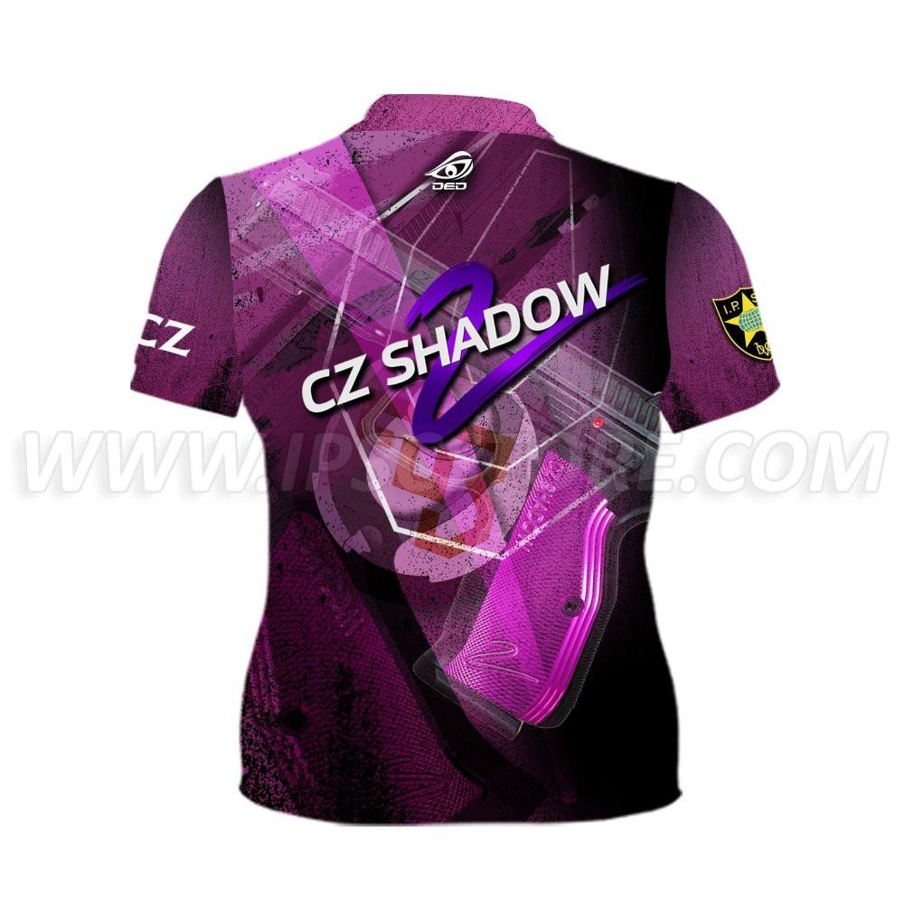 DED Women's CZ Shadow 2 Purple T-Shirt