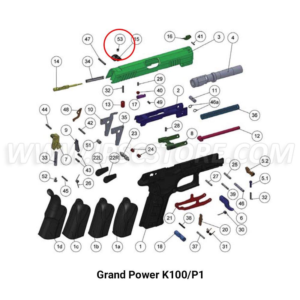 Винт фиксации целика для Grand Power K100