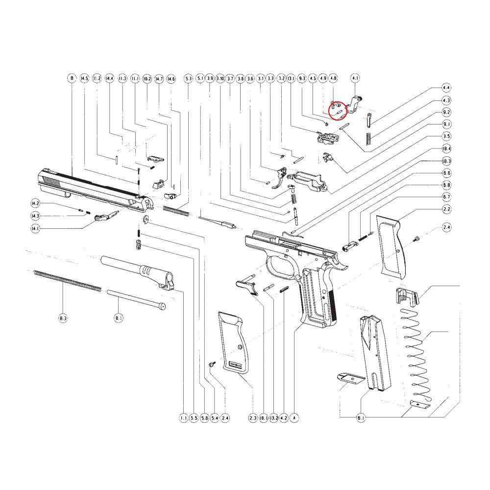 Tanfoglio Disconnector Pin