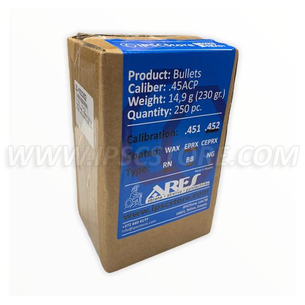 Ares Bullets .45auto 230 gr. RNBB .452 EPRX- 250 pcs.