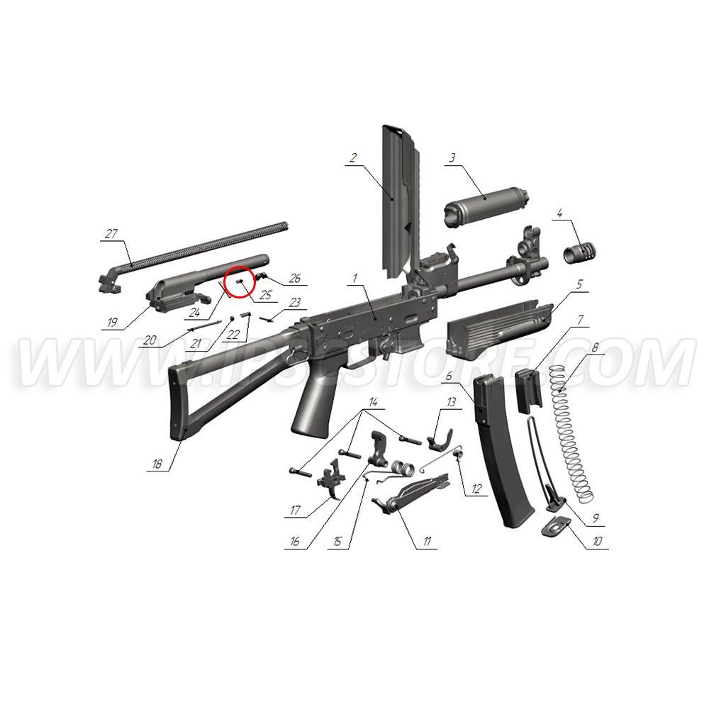 Custom Guns 01399 Ejector Spring for Saiga-9