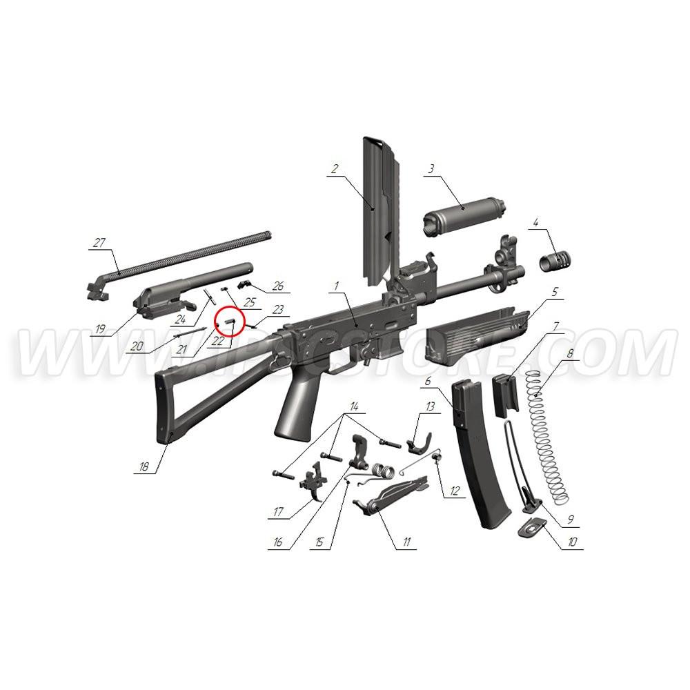 Custom Guns 01394 Firing Pin Spring for Saiga-9