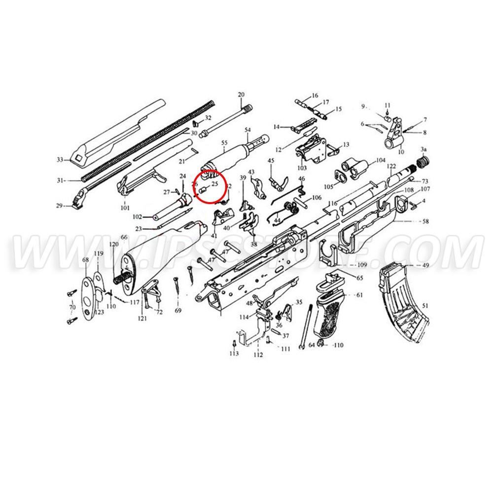 Custom Guns 00987 Ejector for AK, AKM