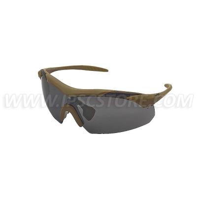 Wiley X 3512 VAPOR 2.5 Grey/Clear/Light Rust Tan Frame
