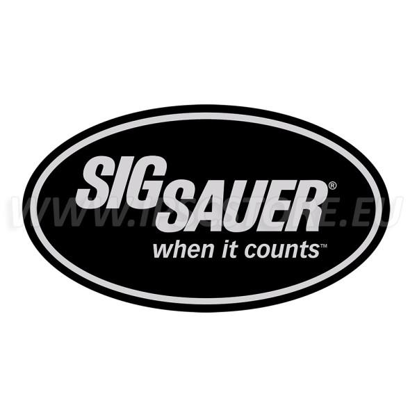 SigSauer Sticker Black, 140x85mm