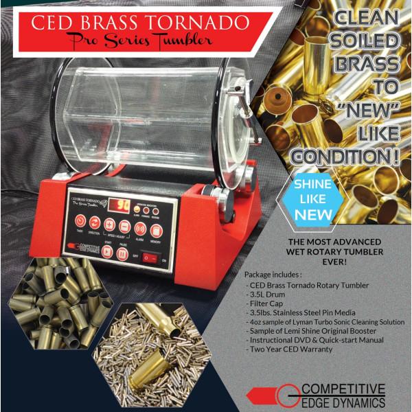 CED Brass Tornado Pro Series Tumbler